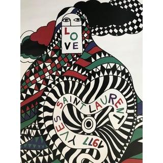 1977 Original Fashion Poster, Yves Saint Laurent, Love For Sale