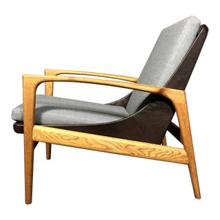 1950s Ib Kofod-Larsen Attributed Lounge Chair, Ab Trensums, Sweden For Sale