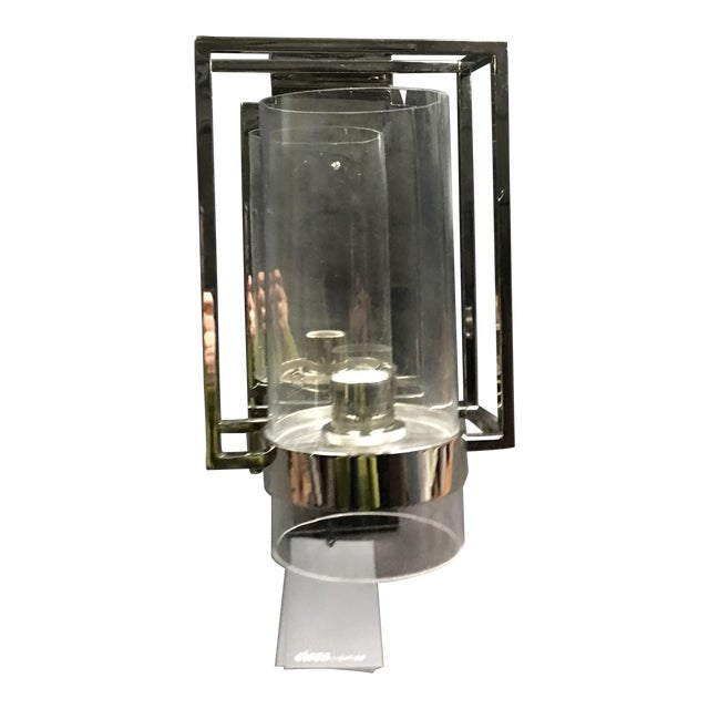 Presidio Caged Sconce by Ian Fowler for Visual Comfort in Polished Nickel For Sale