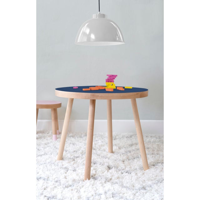 """Poco Round 30"""" Large Solid Maple Wood Kids Table. Our Poco table has a sleek modern look and provides plenty play space..."""