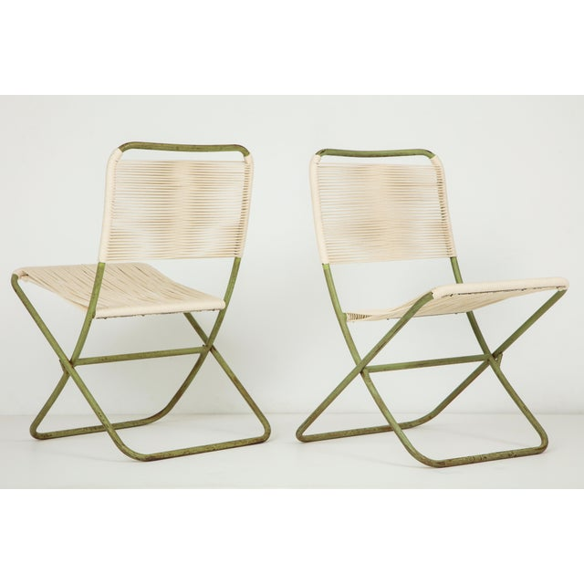 1950s Greta Grossman Folding Chairs - a Pair For Sale - Image 13 of 13