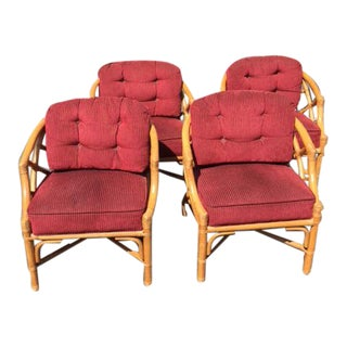 Vintage Ficks Reed Rattan Chairs - Set of 4