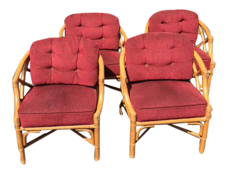 Vintage Ficks Reed Rattan Chairs   Set Of 4   Image 1 Of 8