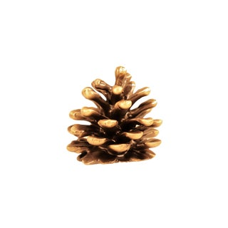 Finial-S Ponderosa Pine Cone, Traditional Patina For Sale