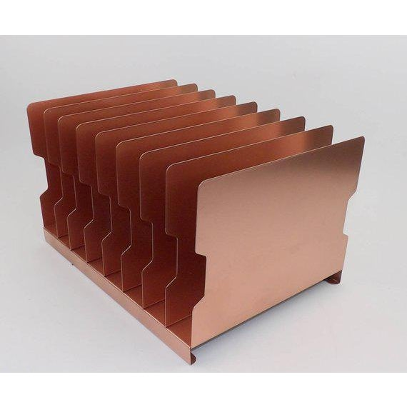 Mid 20th Century Rose Gold Desk Organizer / Mail Sorter For Sale - Image 5 of 8