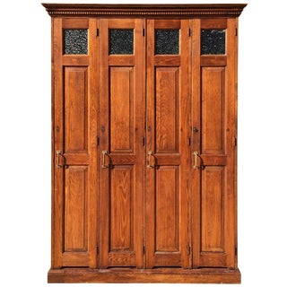 Late 19th Century Oak Police Lockers For Sale