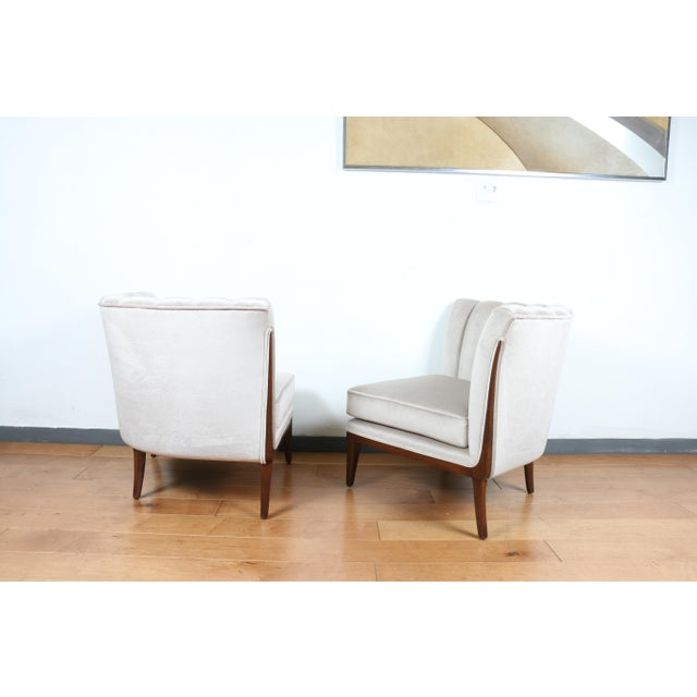 Mohair Hollywood Regency Pair of Chairs For Sale In Los Angeles - Image 6 of 13