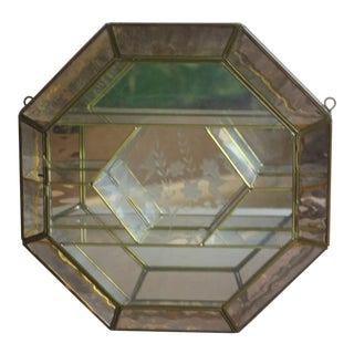 Modern Brass Glass Wall Display Case