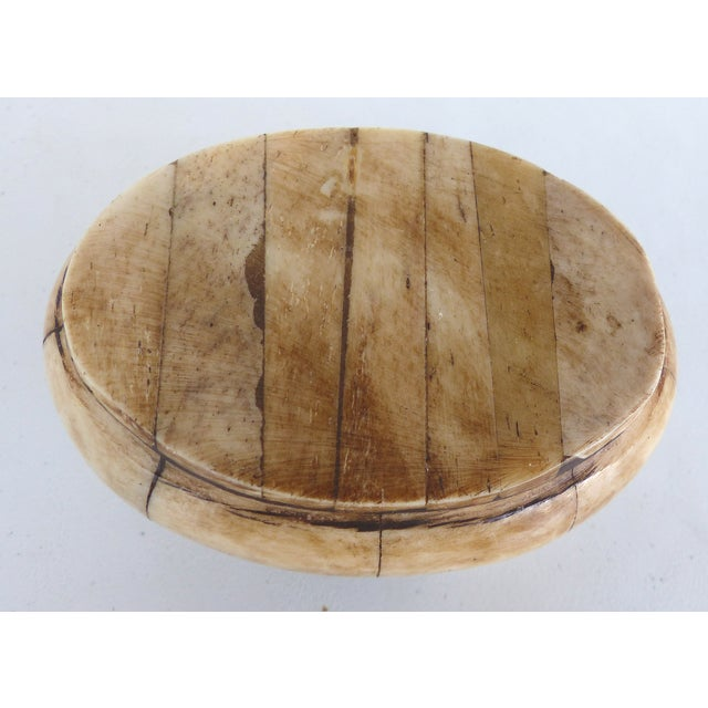 Oval Bone & Brass Trinket Boxes - A Pair - Image 10 of 11