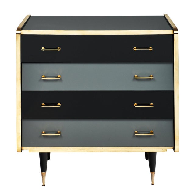 Italian Vintage Glass Covered Chest of Drawers For Sale - Image 11 of 11