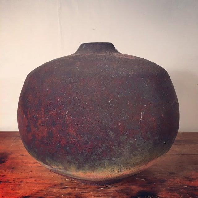 Beautiful vintage Roku vase. Matte finish. Some small scratch/buff marks.