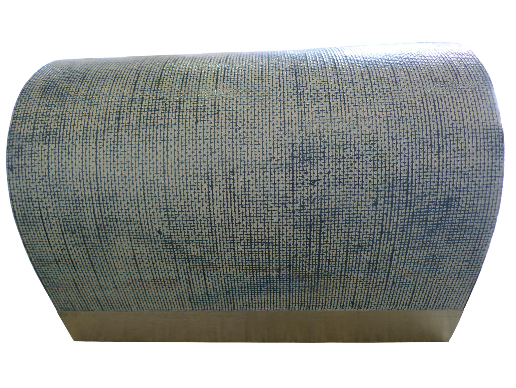 MidCentury Karl Springer Style Linen Wrapped Coffee Table Chairish