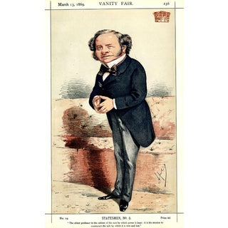 1869 Lord Earl Granville Vanity Fair Portrait Lithograph Print For Sale