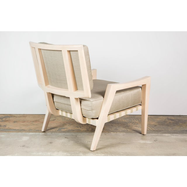 Paul Marra Paul Marra Low Lounge Chair in Bleached Maple For Sale - Image 4 of 9