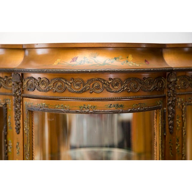 Gold Gilded Vitrine Curio Cabinet For Sale - Image 8 of 10
