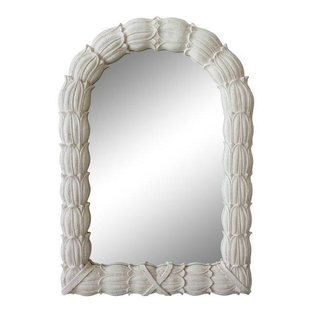 Huge Molded Concrete Sand Stone Wall Mirror For Sale