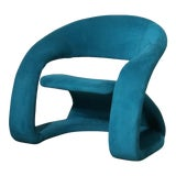 Image of 1980s Memphis Sculptural Louis Durot Cantilever Lounge Chair For Sale