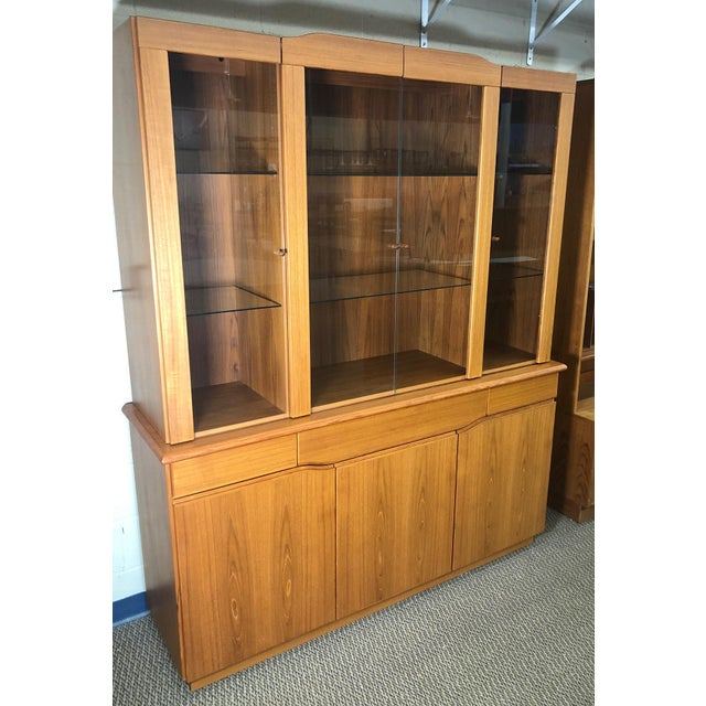 Danish Modern Teak China or Display Cabinet 1980s For Sale - Image 9 of 9