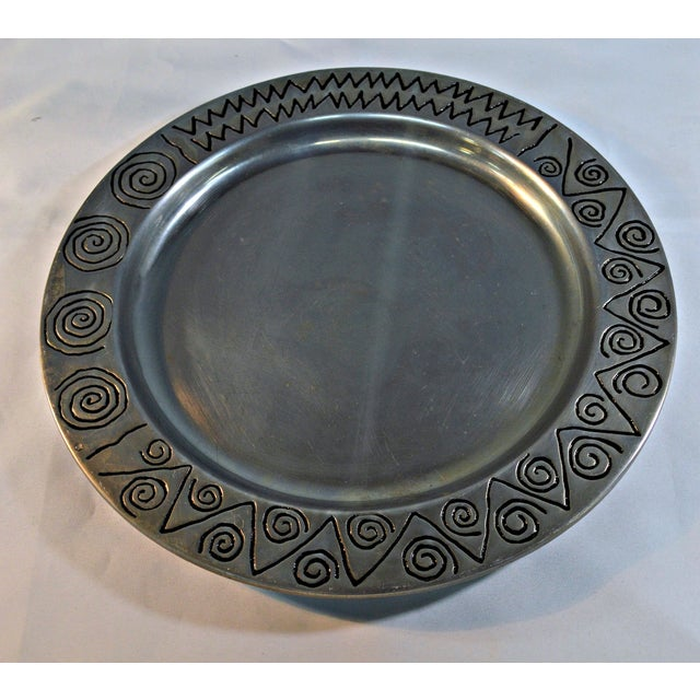 Wilton Co. Pewter Decorative Tray - Image 3 of 5