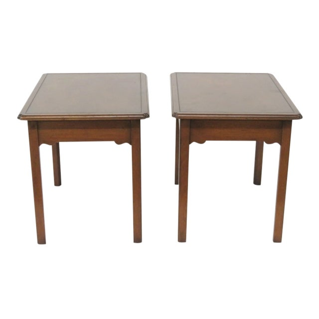 Kittinger Mahogany Side Tables - A Pair - Image 1 of 5