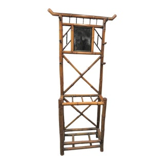 Victorian Bamboo Hall Rack For Sale