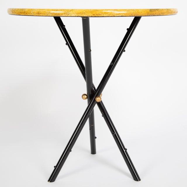 """Piero Fornasetti """"Città DI Carte"""" Side Tables, Circa 1950s - a Pair For Sale - Image 10 of 13"""