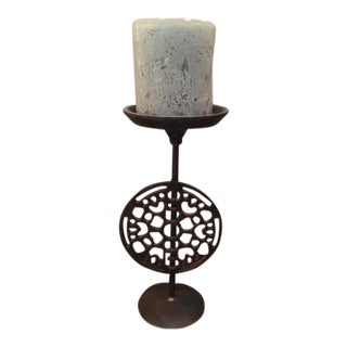 Industrial Style Metal Candle Stick For Sale