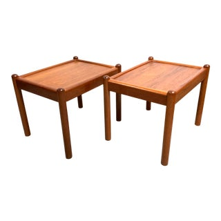 Mid Century Danish Modern Teak Side Tables by Dixie—a Pair For Sale