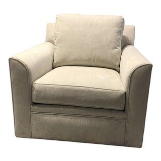 Transitional Swaim Swivel Lounge Chair For Sale