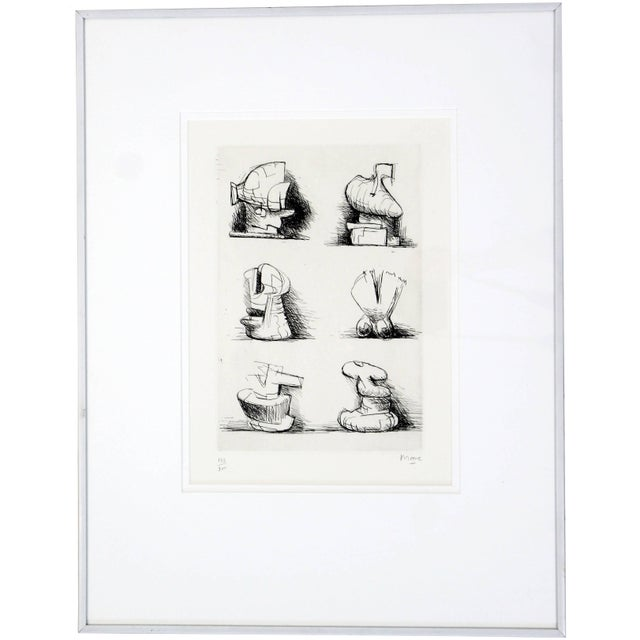 Mid-Century Modern Print Six Sculpture Motives Signed by Henry Moore 182/200 For Sale - Image 10 of 10