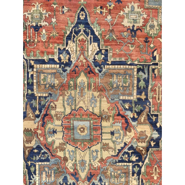 "Pasargad Serapi Lamb's Wool Area Rug - 8'11"" X 11'11"" - Image 2 of 4"