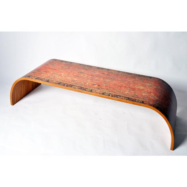 Lamou Persian Rug Printed Wood Coffee Table - Image 2 of 7