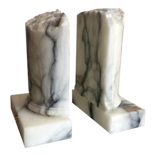 Italian Marble Bookends - a Pair For Sale