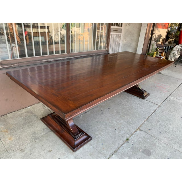 Maroon 1980s Traditional Solid Wood Mahogany Dining Table For Sale - Image 8 of 12