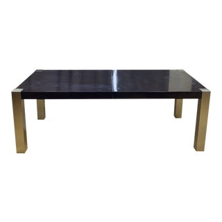 Universal Furniture Gibson Mahogany + Bronze Dining Table For Sale