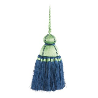 Pyar & Co. Trellis Home Tassel, Live & Navy, Medium For Sale