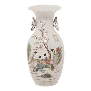 19th Century Chinese Four Seasons Phoenix Tail Vase For Sale