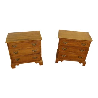 Ethan Allen Solid Maple Nightstands-a Pair For Sale