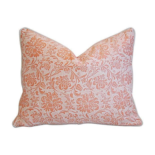 """Early 21st Century Italian Fortuny Cimarosa & Velvet Feather/Down Pillow 23"""" X 18"""" For Sale - Image 5 of 6"""