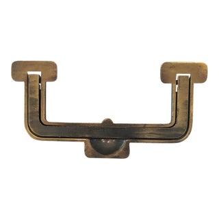 Henredon Artefacts Campaign Dresser Inlaid Brass Drawer Pulls-Handle For Sale