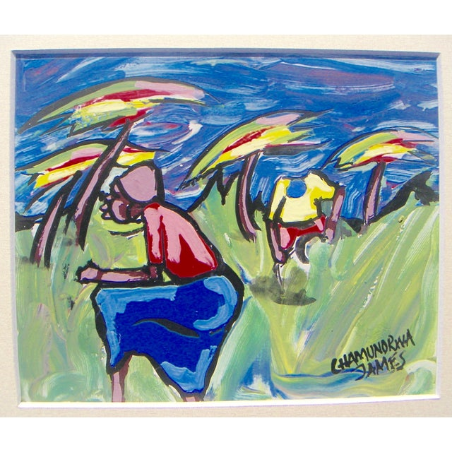 "James Chamunorwa ""African Expressionism"" Painting - Image 1 of 3"
