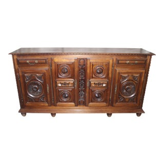 Early 19th Century Antique Louis XIII Style French Sideboard / Buffet For Sale