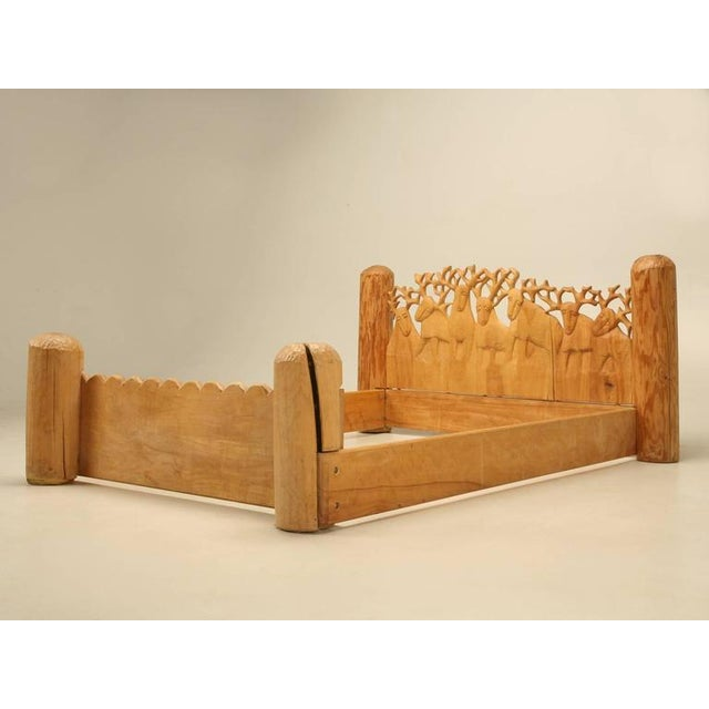 Seven Stags Hand-Carved Bed by Jerzy Kenar For Sale - Image 9 of 10