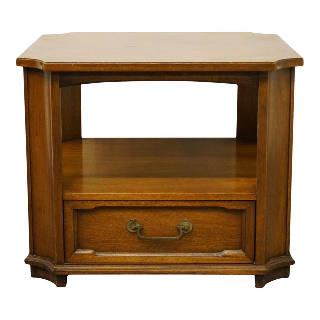 """Drexel Heritage Triune Collection Mahogany 27"""" Square Accent End Table For Sale"""