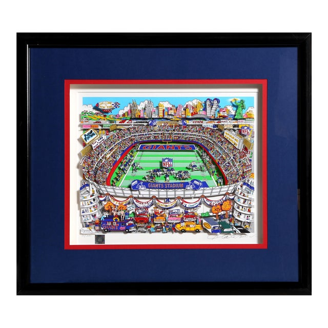 """Giants"", 3-D Serigraph of Giants Stadium by Charles Fazzino For Sale"