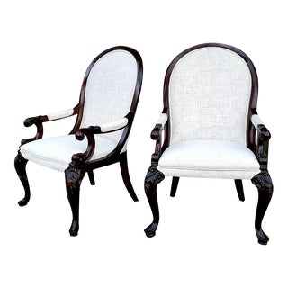 Thomasville Furniture Brompton Hall Regal Mahogany Formal Dining Arm Chair For Sale