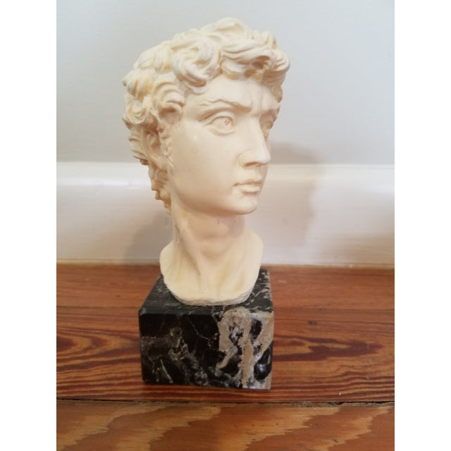 David Bust On Marble Base For Sale - Image 4 of 4