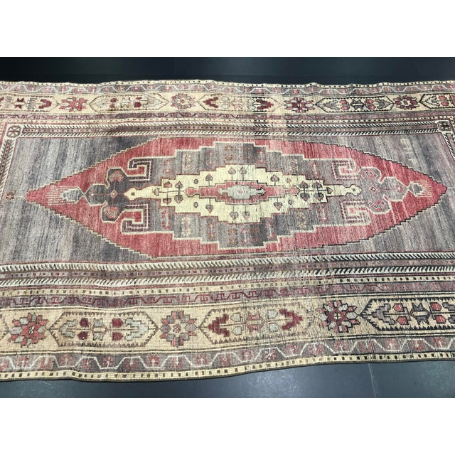 Faded Turkish Oushak Traditional Rug-4'6'x9'6' For Sale - Image 9 of 11