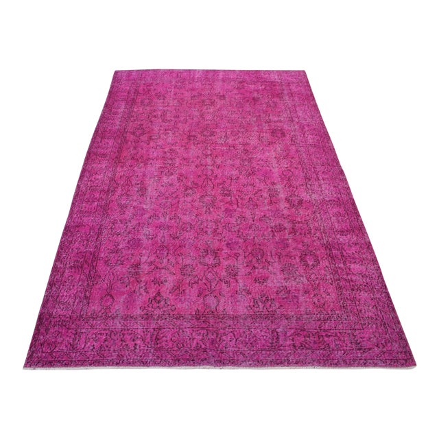 Vintage Overdyed Turki̇sh Rug - 6′4″ × 10′6″ - Image 1 of 6
