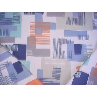 3-1/4y Romo Villa Nova V3166 Etta Clementine Geometric Print Upholstery Fabric For Sale